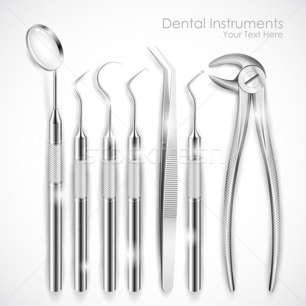 歯科用機器 実例 セット 現実的な 健康 薬 ストックフォト © vectomart