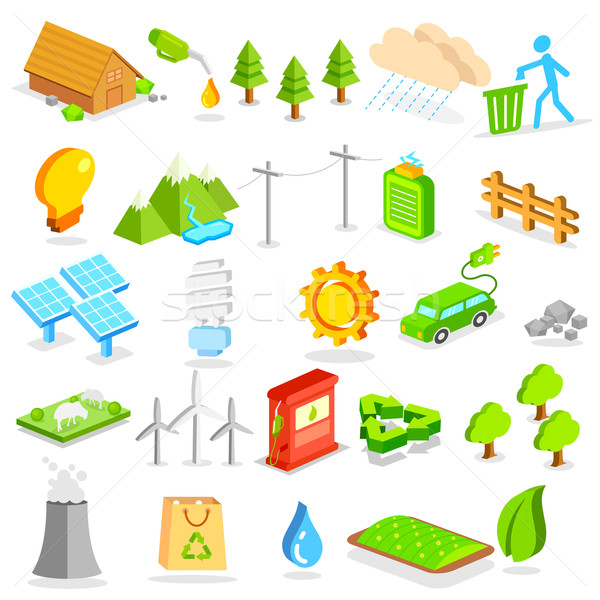 Isometric Environment Icon Stock photo © vectomart