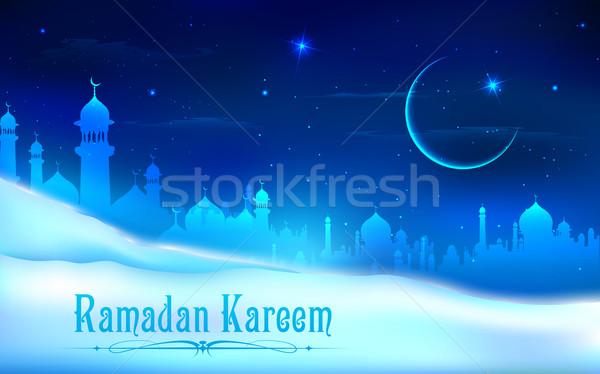 ラマダン 寛大な 実例 神 祈り お祝い ストックフォト © vectomart