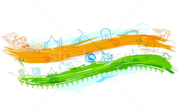 Hint örnek arka plan seyahat renk asker Stok fotoğraf © vectomart
