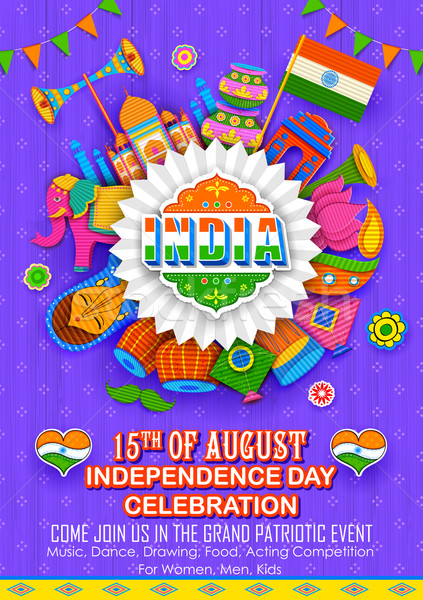 Happy Independence Day banner Stock photo © vectomart