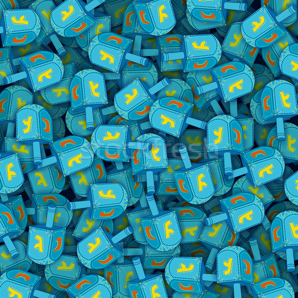 Happy Hanukkah, Jewish holiday background with dreidel Stock photo © vectomart