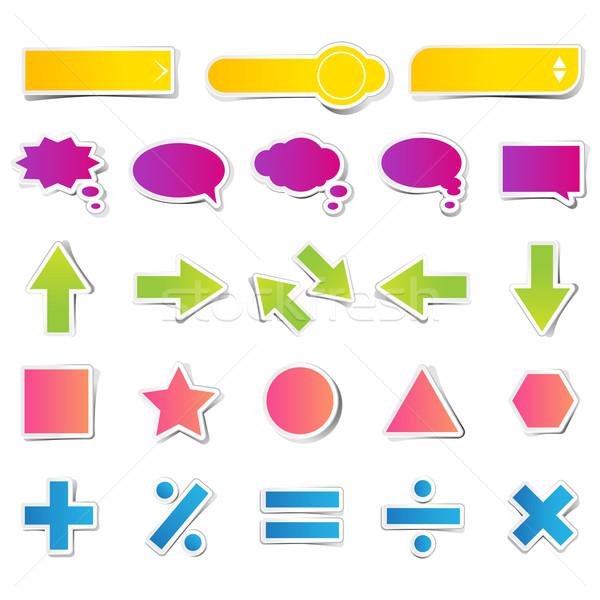 Set of Web Button Sticker Stock photo © vectomart