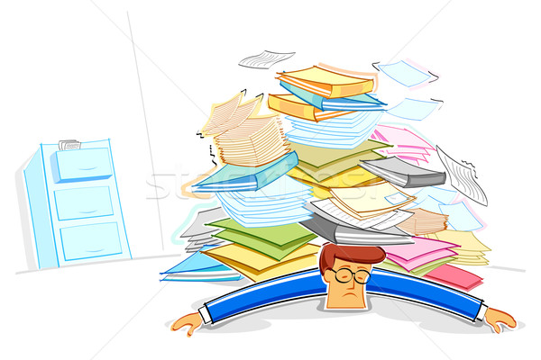 Overworked Business Man Stock photo © vectomart