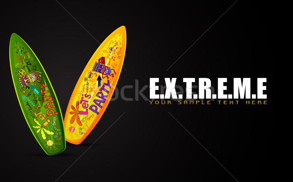 サーフィン ボード 極端な 実例 カラフル やる気を起こさせる ストックフォト © vectomart