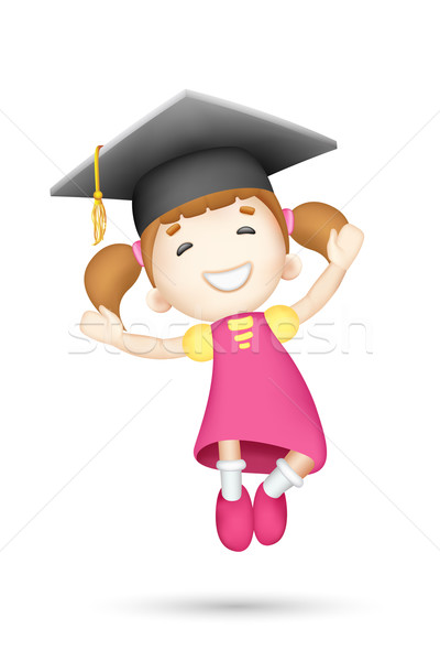 3d Girl with Mortar Board Stock photo © vectomart