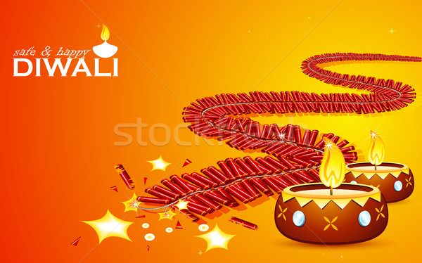 Safe and Happy Diwali Stock photo © vectomart