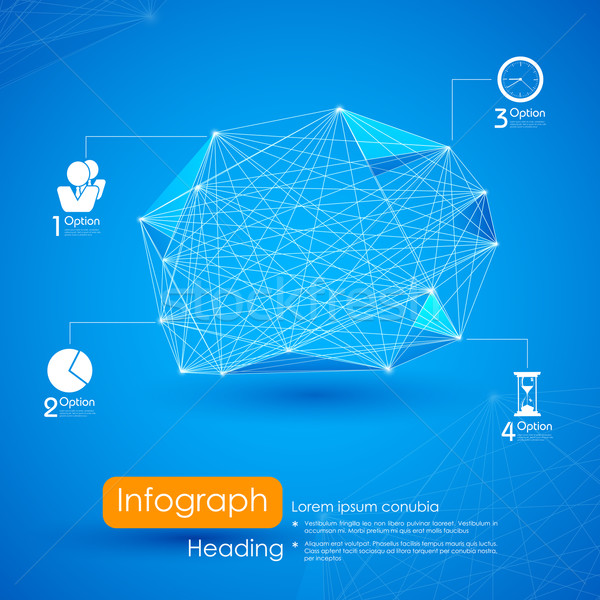 Networking Infographic Background Stock photo © vectomart
