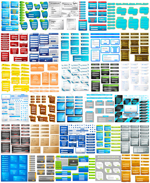 Website Design Template jumbo collection Stock photo © vectomart