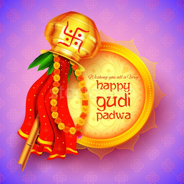 Gudi Padwa celebration of India Stock photo © vectomart