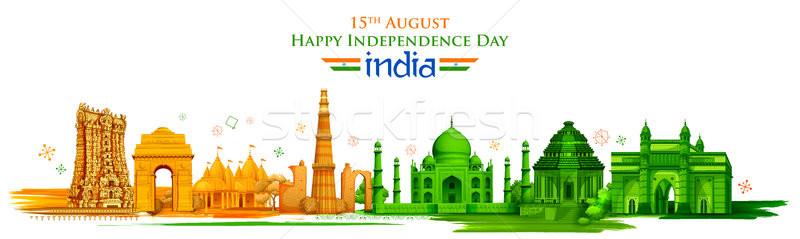 Noto indian punto di riferimento felice giorno India Foto d'archivio © vectomart