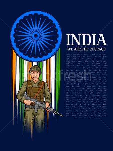 индийской армии нация герой гордость Индия Сток-фото © vectomart