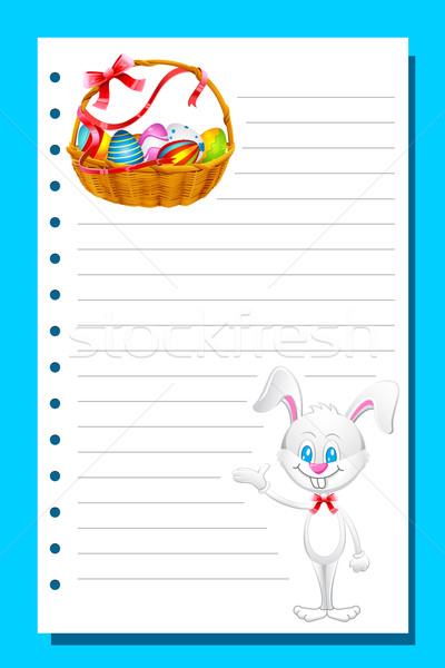 Eater card with Bunny and Eggs Stock photo © vectomart