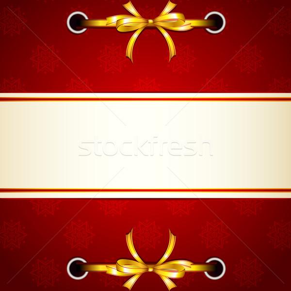 Ribbon tied in Christmas Wallpaper Stock photo © vectomart