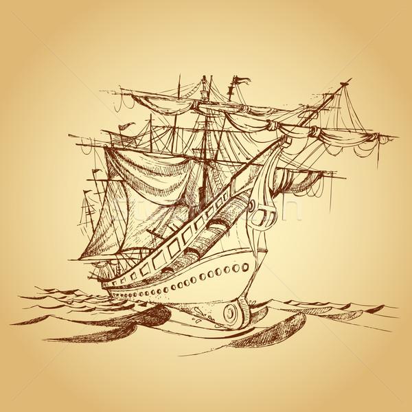 Historical Ship Stock photo © vectomart