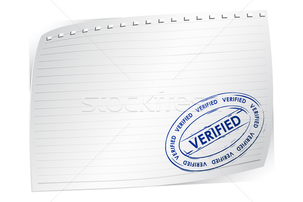 Verified Stamp on Blank Paper Stock photo © vectomart