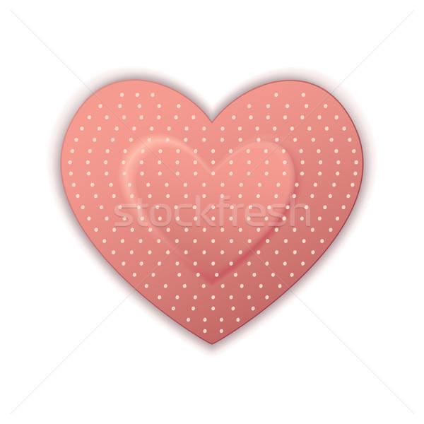 Heart Shape Bandage Stock photo © vectomart