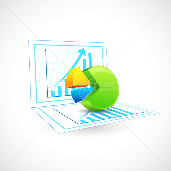 Business Chart Stock photo © vectomart