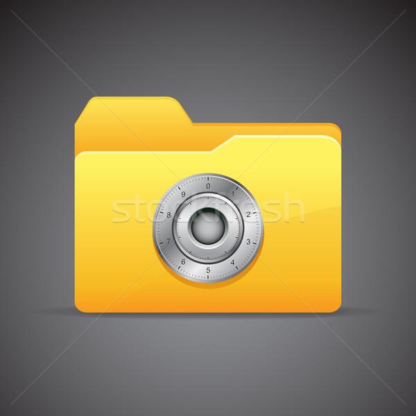 Gizlilik örnek Klasör şifreli kilit iş Stok fotoğraf © vectomart