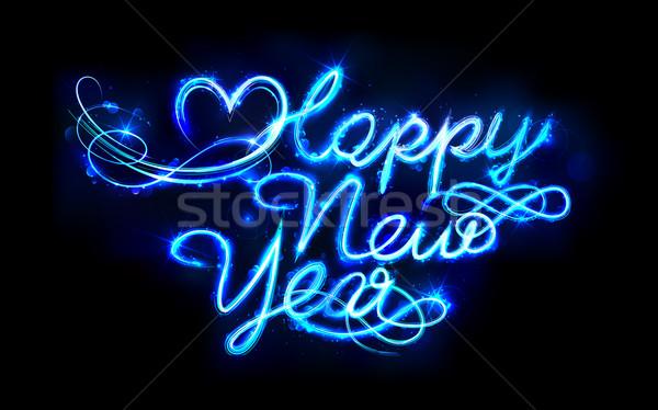 Shiny Happy New Year Stock photo © vectomart