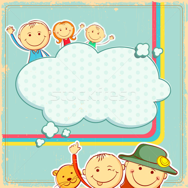 Kids in abstract background Stock photo © vectomart