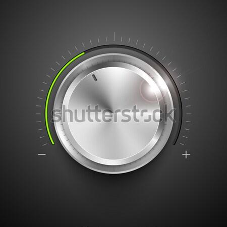 Chrome Knob Stock photo © vectomart
