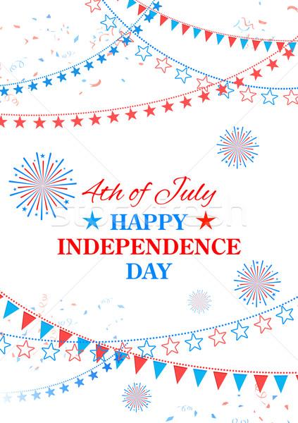 Gelukkig dag amerika illustratie vierde ontwerp Stockfoto © vectomart