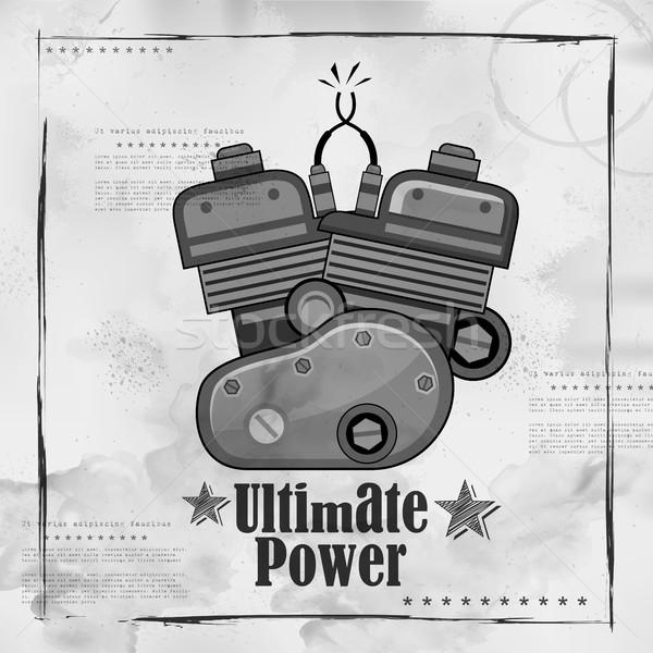 Automobile Bike Engine spark plug on vintage paper background Stock photo © vectomart