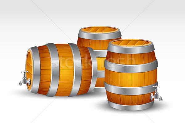 Beer Barrel Stock photo © vectomart