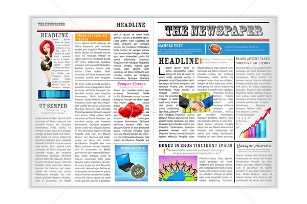 Newspaper Stock photo © vectomart