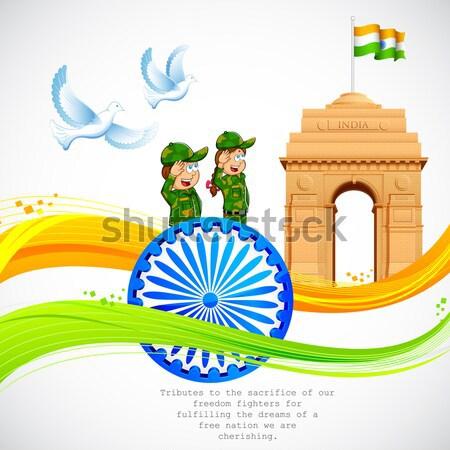 Stok fotoğraf: Hint · bayrak · örnek · tekerlek · Hindistan · kapı