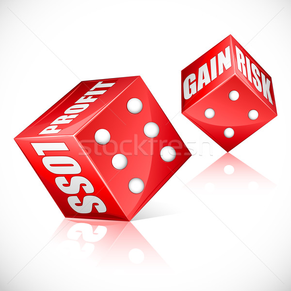Business Dice Stock photo © vectomart