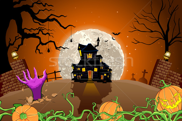 Halloween Haunted House Stock photo © vectomart