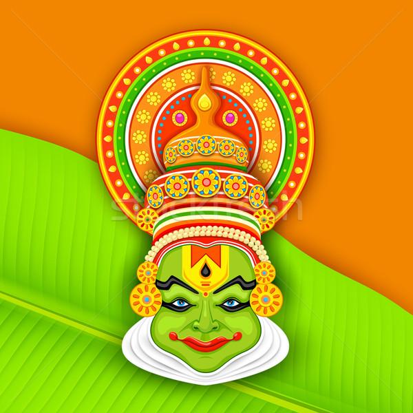 Colorful Kathakali Face Stock photo © vectomart
