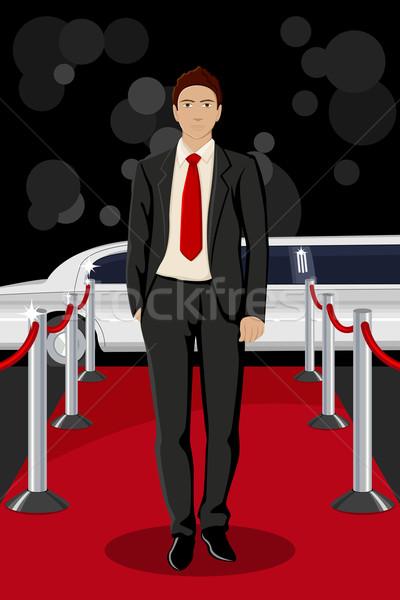 Man on Red Carpet Stock photo © vectomart