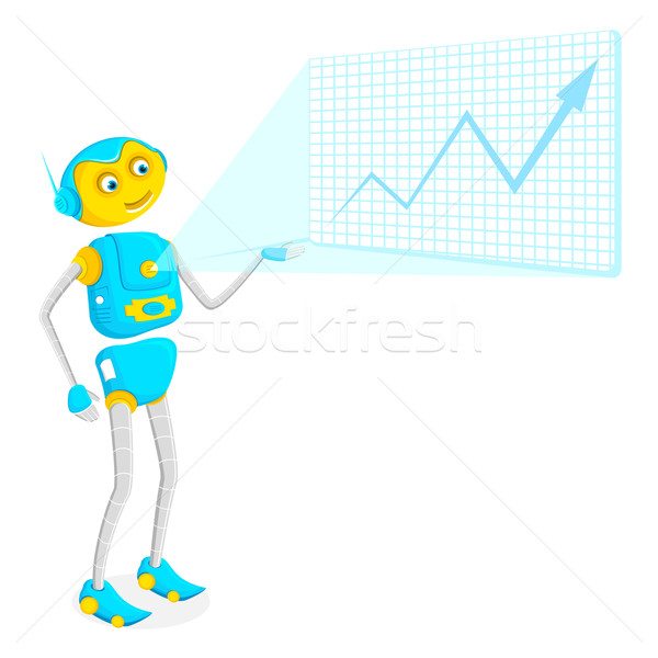 Robot giving Presentation Stock photo © vectomart