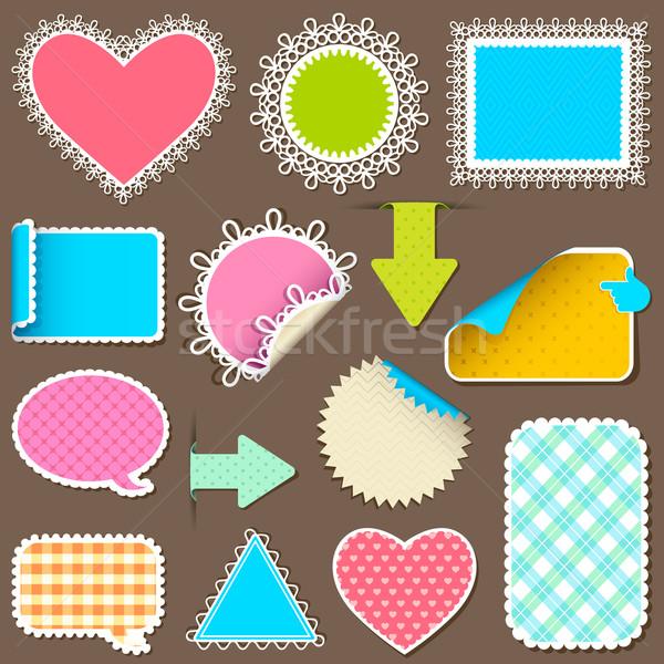 Retró stílus matrica illusztráció címke absztrakt papír Stock fotó © vectomart