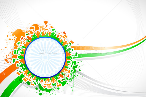 Indian illustrazione abstract tricolore sfondo Foto d'archivio © vectomart