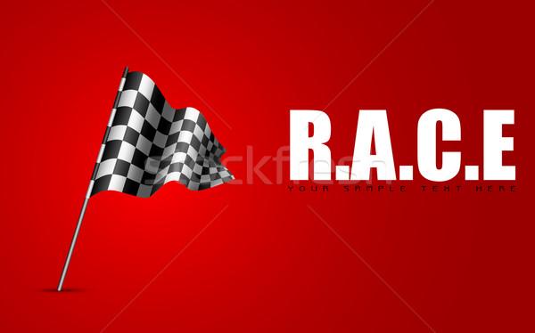 Racing Flag Stock photo © vectomart