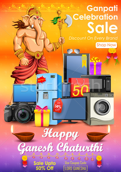 Happy Ganesh Chaturthi sale offer Stock photo © vectomart