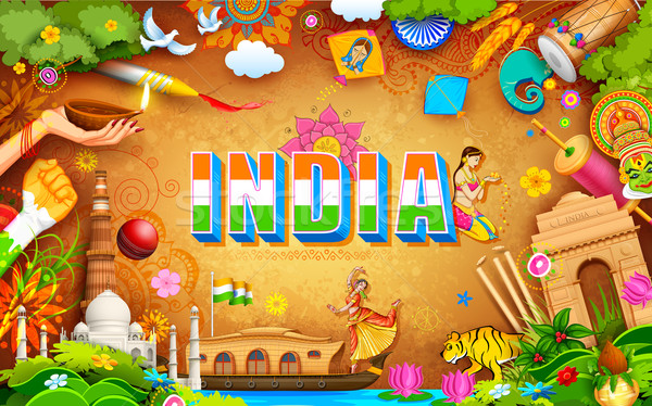 Increíble India ilustración cultura fondo Foto stock © vectomart