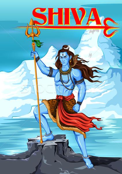 Shiva indiano deus ilustração adorar poder Foto stock © vectomart