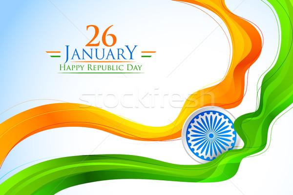 Tricolor Indie banner indian banderą ilustracja Zdjęcia stock © vectomart