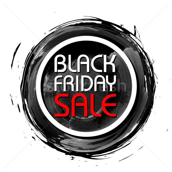 черная пятница продажи торговых предлагать поощрения веселый Сток-фото © vectomart