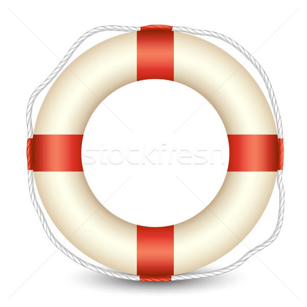 Ilustração isolado branco segurança oceano barco Foto stock © vectomart