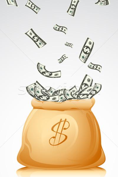 Saco completo dólar ilustração nota abstrato Foto stock © vectomart