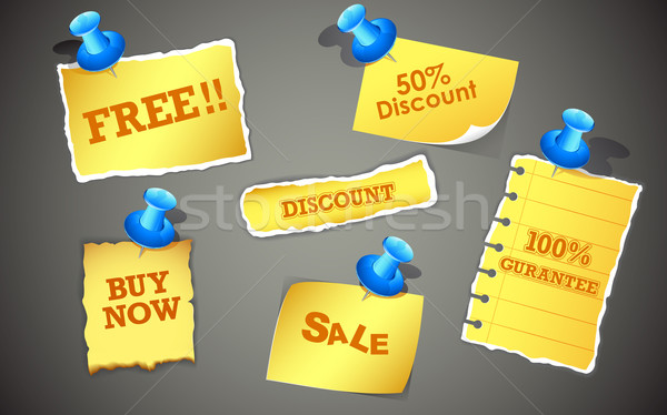 Sale Tags Stock photo © vectomart