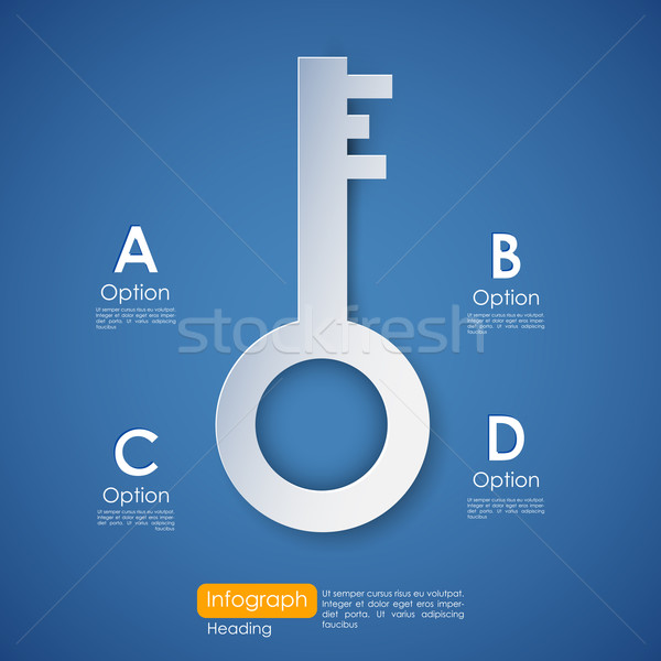 Key to Success Stock photo © vectomart