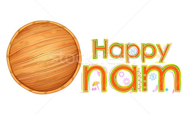 Olakkuda in Happy Onam background Stock photo © vectomart