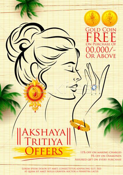 Akshaya Tritiya celebration Sale promotion Stock photo © vectomart